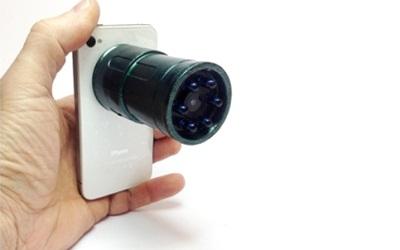 Snooperscope крепиться к телефону с помощью магнита